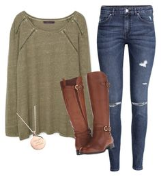 School  by haileydorman on Polyvore featuring MANGO, H&M, Naturalizer and Kate Spade