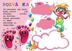 pozvanky_narozeniny_detské Diy And Crafts, Children, Cards, Gifts, Boys, Presents, Kids, Big Kids, Maps