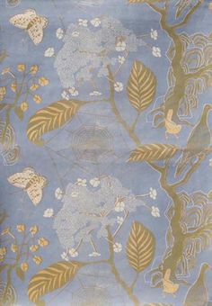 little augury: Glorious Papers for all Seasons-Marthe Armitage-Hamilton Weston Print Wallpaper, Fabric Wallpaper, Pattern Wallpaper, Chinoiserie, Textile Patterns, Print Patterns, Textiles, Art Graphique, Surface Pattern Design