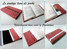 Un amour de protège livre Creation Couture, Handmade Books, Dress Sewing Patterns, Cross Stitch Patterns, Book Art, Homemade, Crafts, Inspiration, Chains