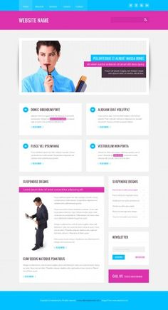 This is a modern and clean looking design and can be used for any kind of business. | AllTemplateNeeds