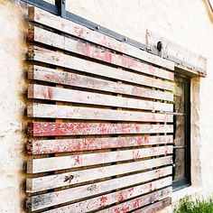 Sliding shutters for privacy - Screen - Ranch House Design Ideas to Steal - Sunset Mobile Modern Ranch, Ranch Style, Outdoor Rooms, Modern Rustic, Architecture Design, House Design, Wood, Painted Tables, Painted Chairs