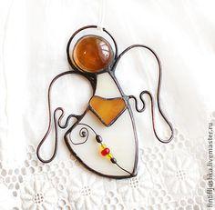Fair Masters - handmade stained glass angel Heart 5. Handmade.