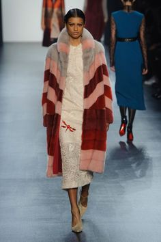 Bibhu Mohapatra | TECHNICOLOUR COATS | 12 Trends to Master For Autumn 2016 | Injected with rainbow hues and patchwork, furry toppers get an irresistibly bold update for Autumn.