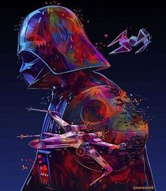Star Wars art by @kaneda99 #starwars #darthvader #darkside #sith #sithlord #darklord #anakinskywalker #fallenjedi #lightside #rebelalliance #lovestarwars #doubletap #starwarsart #SWsaga
