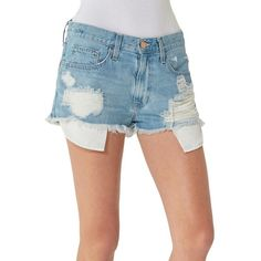 Big Star Kyle Distressed Boyfriend Shorts ($78) ❤ liked on Polyvore featuring shorts, pyxis, cuffed shorts, zipper shorts, big star, big star shorts and frayed shorts