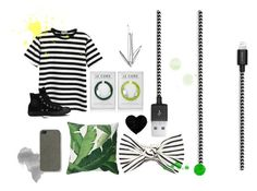 Black And White cable love from Le Cord by lecord on Polyvore featuring Chicnova Fashion, Converse, Eugenia Kim and The Case Factory