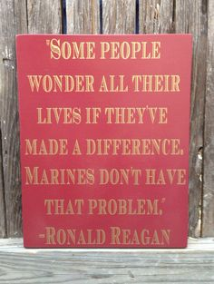 US Marines Ronald Reagan Quote Wood Sign 12 x 15 by LilMissScrappy, $39.95