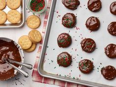 No-Bake Chocolate-Peanut Butter Cookies Recipe from Food Network