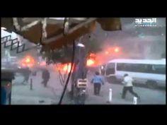 اللحظات الأولى للإنفجار الذي وقع في حارة حريك بالضاحية الجنوبية في بيروت - http://www.laabdali.com/16846.html