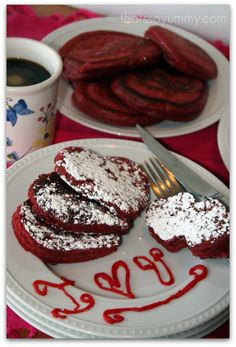 Pink Velvet Pancakes- dinner for pancake Tuesday :) can't wait for supper tomorrow!!