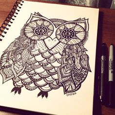 Sharpie art owl