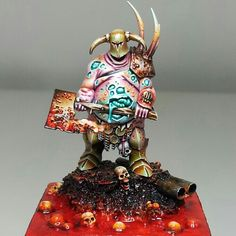 Nice Nurgle Miniature, one I'll have to try painting someday, too many hashtags in the original description. #excessive