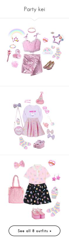 """""""Party kei"""" by sweetpasteldream ❤ liked on Polyvore featuring Jazzelli Designs, MANGO, claire's, party, kawaii, harajuku, jfashion, partykei, Iron Fist and Cotton Candy"""