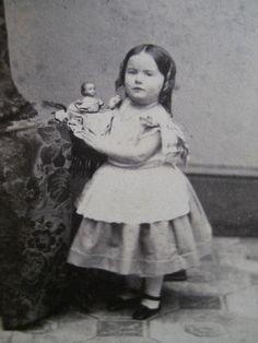 Cute Girl Toy Doll Eagle Antique Civil War Era CDV Photo Spooner Springfield MA | eBay