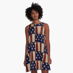 b3f1b13435 Rustic American Flag Dress