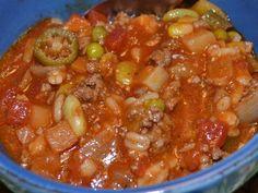Hamburger Barley Vegetable Soup