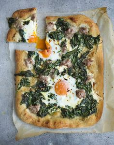Bill Granger recipe: Spinach, spicy sausage and egg pizza - Recipes - Food and Drink - The Independent