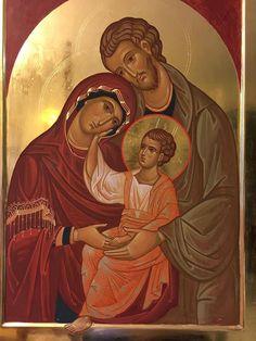 icon of holy family Religious Images, Religious Icons, Religious Art, Orthodox Catholic, Catholic Art, Byzantine Icons, Byzantine Art, Greek Icons, Paint Icon
