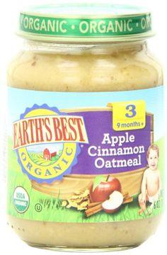 Earth's Best Organic Stage 3, Apple, Cinnamon & Oatmeal, 6 Ounce Jar (Pack of 12) - http://alternative-health.kindle-free-books.com/earths-best-organic-stage-3-apple-cinnamon-oatmeal-6-ounce-jar-pack-of-12/