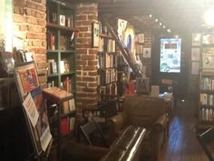The Book Lady Bookstore in Savannah, Georgia. We would love to sit down with a cup of coffee and spend hours in here!
