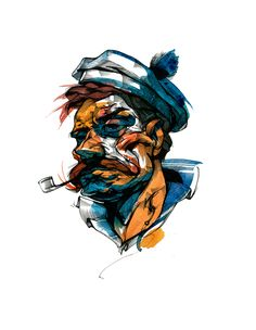 The stories of the old fisherman by Viktor Miller-Gausa, via Behance