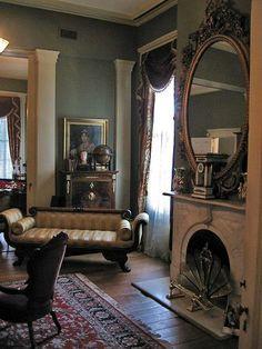 Parlor at Oakleigh Mansion, Mobile, via Flickr.