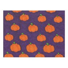Purple Fall Pumpkin Pattern Postcard