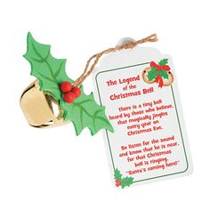 """""""The Legend Of the Christmas Bell"""" Craft Kit - OrientalTrading.com"""