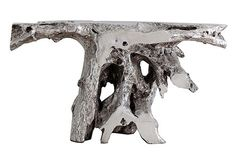 Brivo Freeform Console Table, Silver Leaf- the phillips collection- taylors on ten