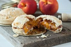 Mason jar pies made in the lid of a mason jar. Mini peach pies with a spiced peach filling. Recipe makes 2 small hand pies, but can be scaled up. Mason Jar Pies, Wide Mouth Mason Jars, Mini Peach Pies, Mini Pies, Dessert For Two, Pie Dessert, Dessert Recipes, Mini Pie Pans, Spiced Peaches