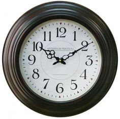 Ribbed Antique Clock ~ Antoine De Praiteau Wall Clock A fabulous circular antique style metal wall clock with ornate hands Antique style paper clock face with printed French detailing that will look super on any wall Home Accessories, Clock, Clock Wall Decor, Wall, Tea Lights, Paper Clock, Ornate, Traditional Clocks, Small Wall Clock