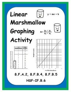 Students love when teachers bring food to math class! Get your students to practice and apply their linear graphing skills with enthusiasm by giving them this fun marshmallow linear graphing activity. Includes 2 tasks which can be assigned the same day or Math Teacher, Math Classroom, Teaching Math, Teacher Stuff, Teaching Ideas, Common Core Activities, Graphing Activities, 8th Grade Math, Ninth Grade