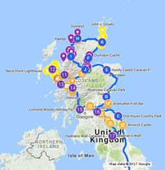 Roadtrip Scotland, full view on google maps. On this map you will find a summary of our planned holiday with our mobile home. The trip will take 20 days from Dover to Dover, with two nights in Inverness and Skye. Including route, campsites and sights. No big cities.