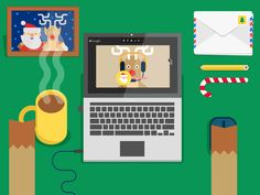 Santa Hangout {gif} designed by Markus Magnusson . Connect with them on Dribbble; the global community for designers and creative professionals. Holiday Images, Holiday Cards, Vector Animation, Christmas Illustration, Christmas Design, Motion Design, Motion Graphics, Animated Gif, Vector Art