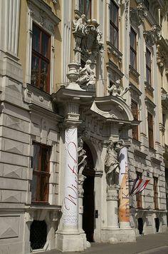 Johan Lucas von Hildebrandt. Entry Portal of Kinsky Palace. 1713-1717 | Flickr - Photo Sharing!