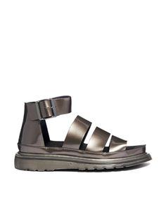Dr Martens Pewter Shore Clarissa Chunky Strap Sandals