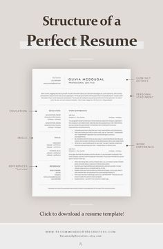 Simple resume examples to make your CV professional. All of these visual resume examples come with a matching cover letter and reference page. Basic Resume Examples, Professional Resume Examples, Free Professional Resume Template, Professional Tools, Resume Writing Tips, Resume Tips, Writing Guide, Resume Skills, Resume Cv
