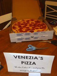 Venezia's Pizza- uncut, of course!