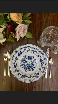Vintage Boho Blues China for Weddings Rehearsal Dinners and Events. Dixie Does Vintage in Dallas Tx
