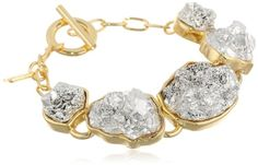 Roman Luxe Two-Tone Nuggets Chain Bracelet