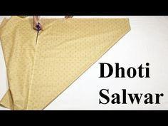Dhoti Salwars cutting and stitching Dhoti Salwar Suits, Salwar Pants, Churidar, Punjabi Suits, Salwar Kameez, Kurti, Sewing Pants, Sewing Clothes, Salwar Designs