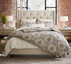 maddock upholstered panel bed guest rooms upholstered