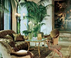 Jungle Themed Living Room Love The Greenery And Neutral Tones Afrikanische WohnzimmerAfrikanisch