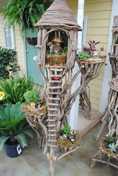 Fairy tree house with ladder by Oyku
