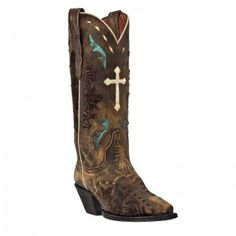 Dan Post Ladies Anthem Cross Western Boots - COWGIRL BOOTS - LADIES