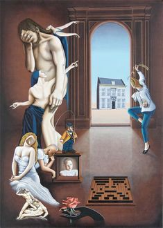 Frits Dang, surrealism paintings, surrealists painters from Netherlands, surrealistic art