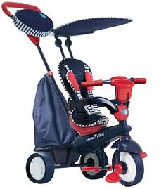 The smarTrike Spirit 4-in-1 Tricycle functions in 4 modes to carry your child from toddlerhood to the bike years. $100
