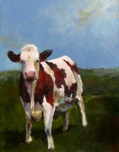 Cow Painting  A Sunny Day  11x14 Original by CariHumphryArt, $165.00