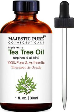 Majestic Pure Tea Tree Oil, Triple Extra, 100% Pure and Authentic, 45% terpinen-4-ol, 1 fl. Oz